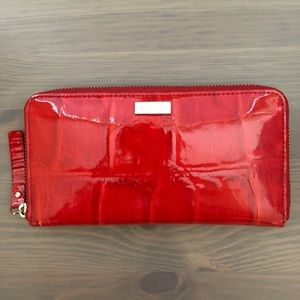 Kate Spade Neda Knightsbridge Red Zip Wallet